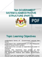 Topic 2a Malaysia Government Sistem Amp Adminstrative Structure