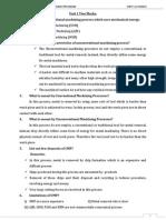 Unit 1 Me2026 Unconventional Machining Processes