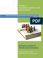 Academic Planning and Management