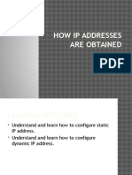 How IP Addresses Are Obtained