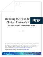 Building the Foundation for Clincialresearch