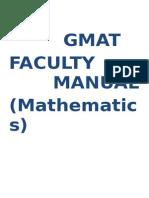 Faculty Manual - GMAT