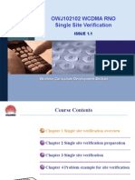 OWJ102102 WCDMA RNO Single Site Verification ISSUE1.1