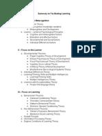 Facilitating Learning Summary (4th Edition)