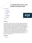 Identification of polyphenols in tobacco leaf and their antioxidant and antimicrobial activities.docx