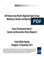 Asian Development Bank's Gender and Economics Policy Research