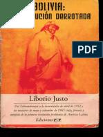 Liborio Justo - Bolivia La Revolssución Derrotada