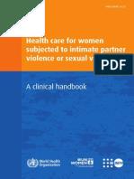 Clinical Handbook IPV and SV