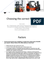 Selecting a Forklift/Lift Truck