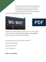 Walmart Culture