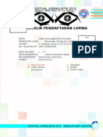 Formulir Pendaftaran Festival Jurnalistik 2015