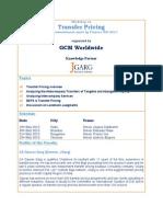 May 2015 - Transfer Pricing Workshop in Delhi, Mumbai, Bangalore and Chennai
