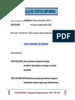 Costos Unitarios 2014