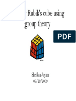 Solving Rubik's Cube Using Group Theory