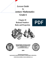 LESSON GUIDE - Gr. 6 Ration n Proportion f Ver