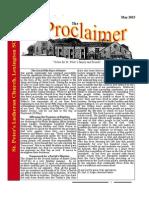 May 2015 Proclaimer