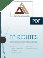 Tp Routes 2eme Gc 2 - Ali Amani - Younes El-bouznani - Mohamed Amdjar
