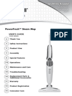 BISSELL Powerfresh Steam Mop 1940 - User's Guide