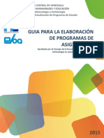 Guía para la Elaboración de los Programas de la Asignaturas
