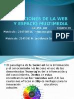 GENERACIONES DE LA WEB Y ESPACIO VIRTUAL.pptx