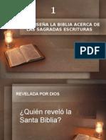01 Que Enseña La Biblia Acerca de LAS SAGRADAS ESCRITURAS