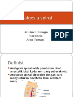 Analgesia Spinal