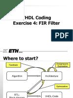 VHDL Coding for FIR Filter
