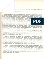Sobre Metacrítica do conhecimento vol.V Gesammelteschriften - Flavio R. Kothe