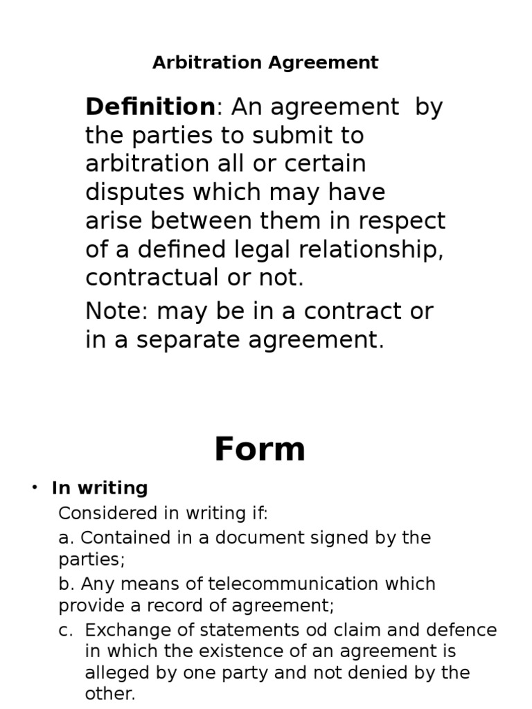 Arbitration Agreement Settlement Litigation