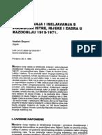 Vladimir Žerjavić - DOSELJAVANJA I ISELJAVANJA S PODRUČJA ISTRE, RIJEKE I ZADRA