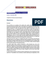 SRI LANKA 2009 Report of FOE Violations