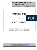 Empoli-Napoli - 33° giornata serie A