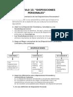 CAPÍTULO 15 Disposiciones Personales