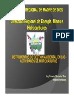 Instrumentos de Gestion Ambiental en Las Actividades de Hidrocarburos