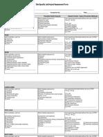 Site Specific Job Hazard Assessment Form