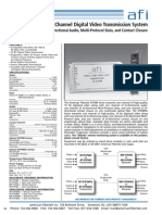 American Fibertek MR-91P589SL Data Sheet