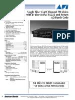 American Fibertek MRX-8823C Data Sheet