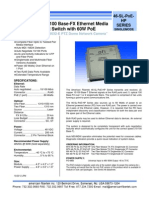 American Fibertek Mtx 46 Fx Sl St Poe Hp Data Sheet