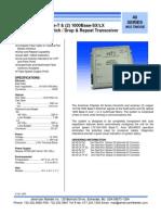 American Fibertek MX-49-SX-SC Data Sheet