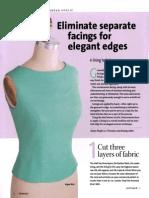 Eliminating Separate Facings for Elegant Edges