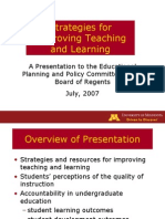 Strategies for Improving Teaching and Learning