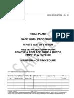 Sample Work Procedure