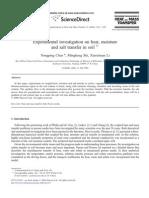Experimental Investigation on Heat, Moisture and Salt Transfer in Soil