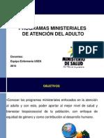 2.Programas Ministeriales Del Adulto. Aplicación de IIH. Prevención Efectos Adversos