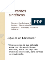 Lubricantes Sintéticos y Biodegradables