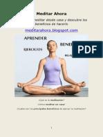 Aprender a Meditar | Recursos y técnicas sobre meditación