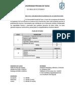 Maestria en Ingeniería Civil Con Mención en Gerencia de La Construcción