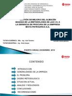 Gestion Mejora Del Almacen Basada Metodologia 5s Gerencia Procura Empresa Petrourica