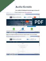 Instructivo Para Generar y Validar El Catálogo de Cuentas Según El Anexo 24