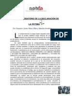 2013 01 23 Valor Probatorio Declaracion Victima